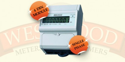 DDS353C Single Phase Din 4 Rail Meter