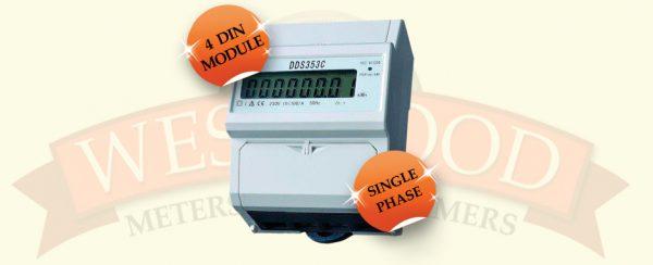 DDS353C Single Phase Din 4 Rail Meter