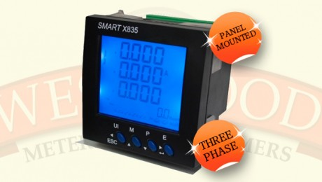 3 Phase Panel Mounted CT Operated Meter