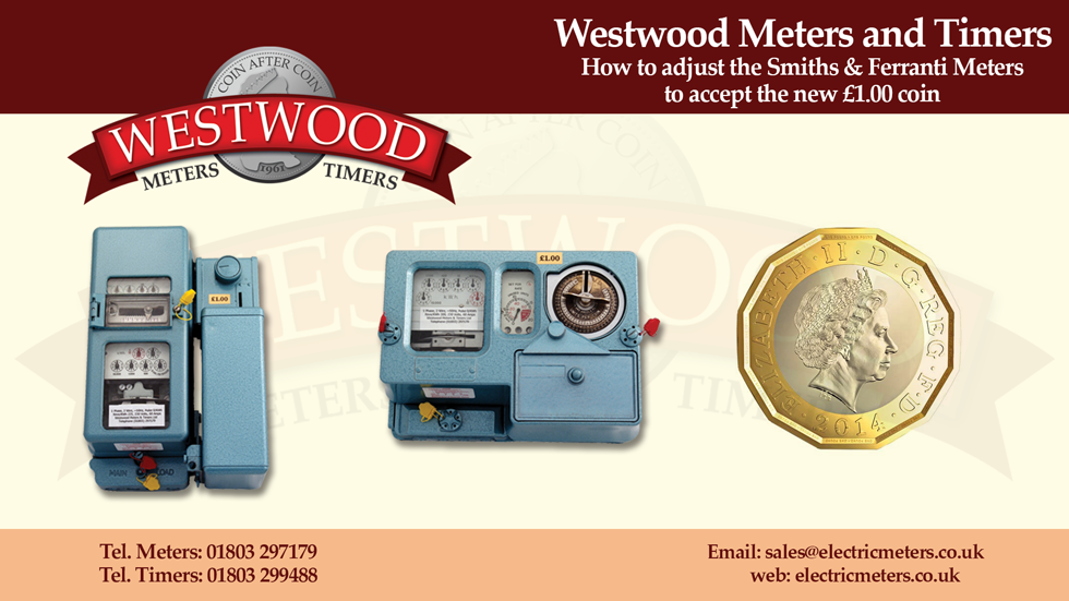 Electricity Coin Meter : New £ coin products westwood meters and timers