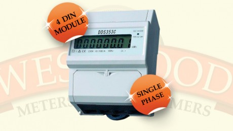 Single Phase DIN Rail 4 Module Meter