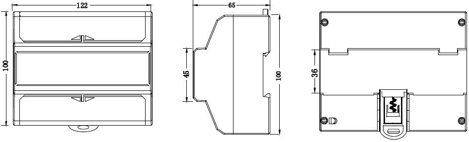 dts353-meter-dimensions