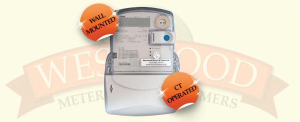 Iskra MT174 - 3 PHASE CT OPERATED METER - WALL MOUNTED